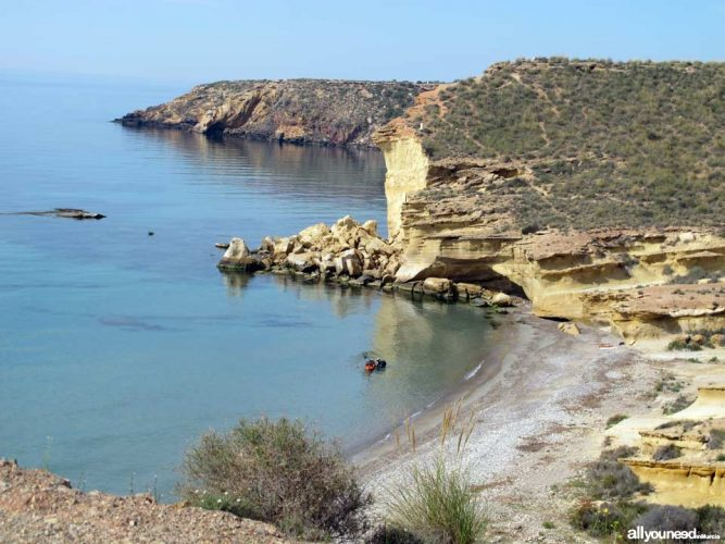 Playa Cueva de los Lobos en Mazarrón