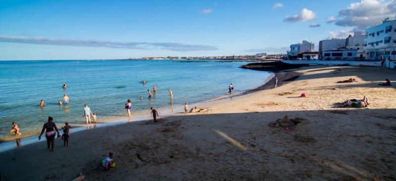 Playa De Corralejo viejo en La Oliva