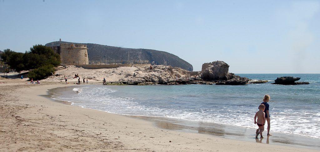 Playa El Andragó en Teulada