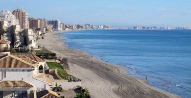 Playa El Arena Pedrucho en San Javier