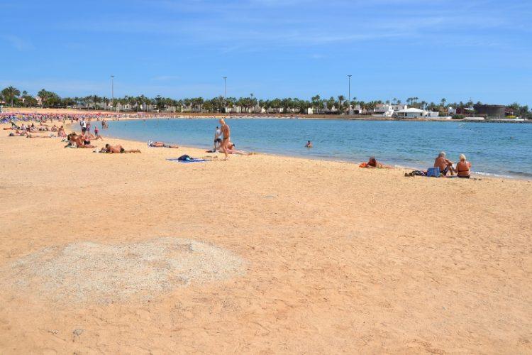 Playa El Castillo en La Oliva