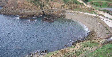 Playa El Desnarigado en Ceuta
