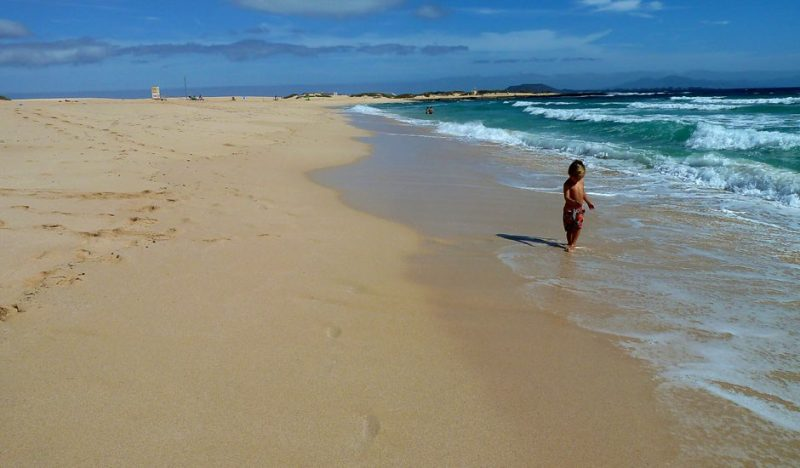 Playa El Dormidero en La Oliva