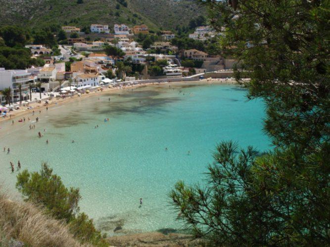 Playa El Portet en Teulada
