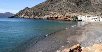 Playa El Portús en Cartagena