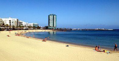 Playa El Reducto en Arrecife