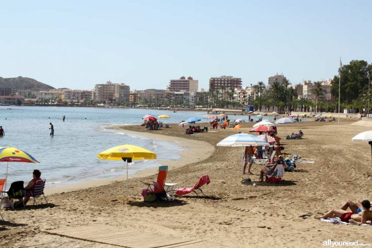 Playa El Rihuete en Mazarrón