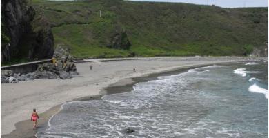 Playa El Serrón en Valdés