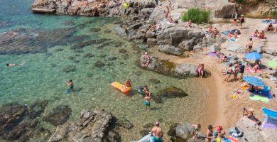 Playa Els Canyers en Palafrugell