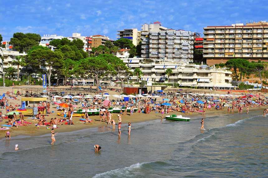 Playa Els Capellans en Tarragona