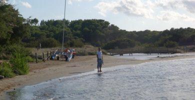 Playa Es grau en Maó