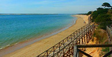 Playa Espigón en Huelva