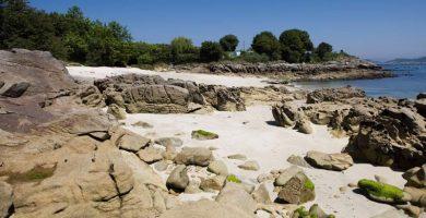 Playa Estrepeiros en Cangas