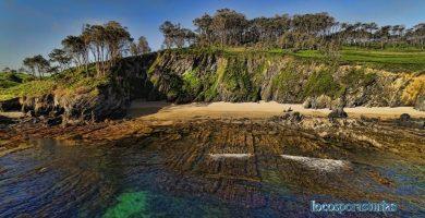 Playa Fabal en Navia