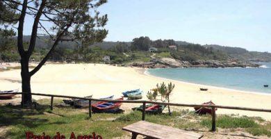 Playa Fontiñas en Bueu
