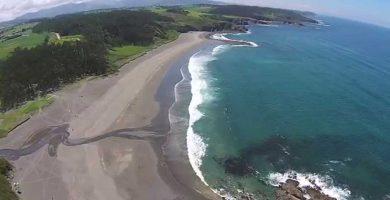 Playa Frejulfe en Navia