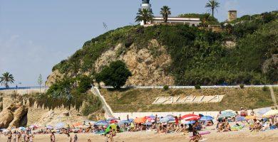 Playa Garbí en Calella