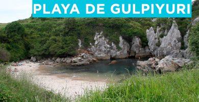 Playa Gulpiyuri en Llanes