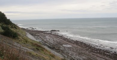 Playa Itxaspe en Deba
