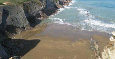 Playa Itzurun en Zumaia