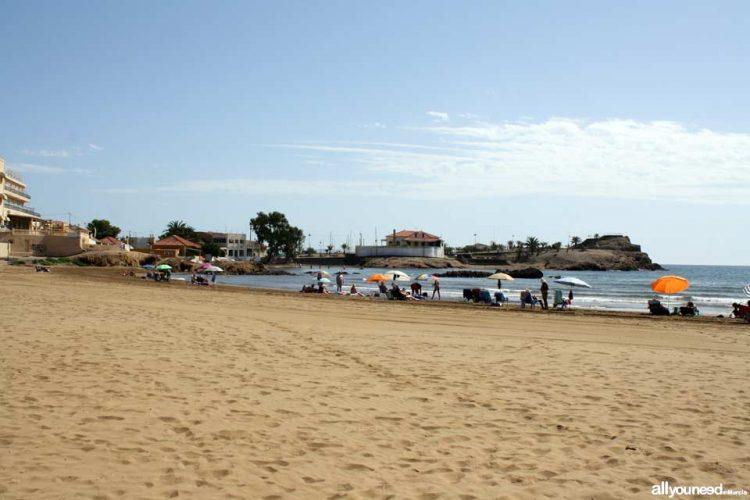 Playa Junta de Los Mares en Mazarrón