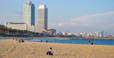 Playa La Barceloneta en Barcelona