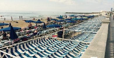 Playa La Bassa Rodona en Sitges
