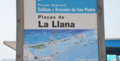 Playa La Llana en San Pedro del Pinatar