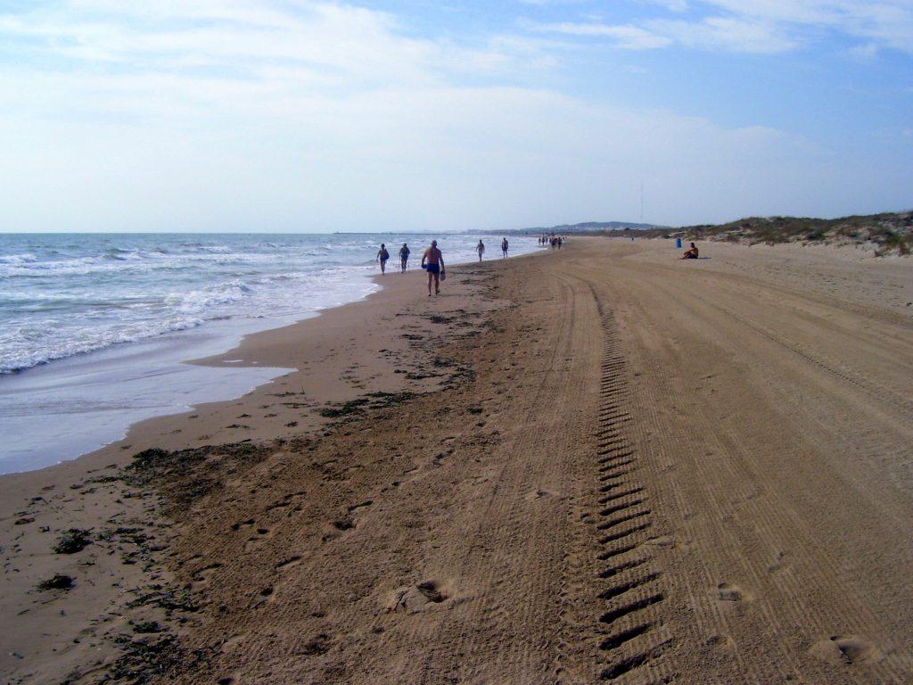 Playa La Marina en Elche