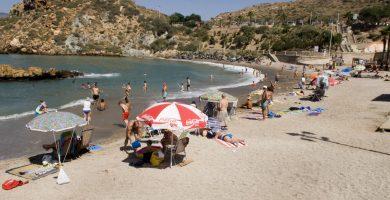 Playa La Morena en Cartagena
