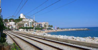 Playa La Murtra en Sant Pol de Mar