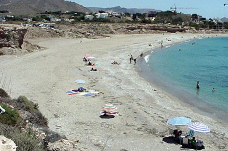 Playa La Raja en Mazarrón