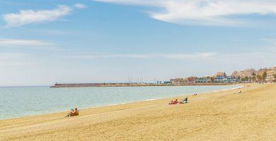 Playa La Romanilla en Roquetas de Mar
