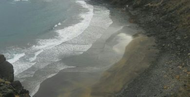Playa La Sepultura en Vallehermoso