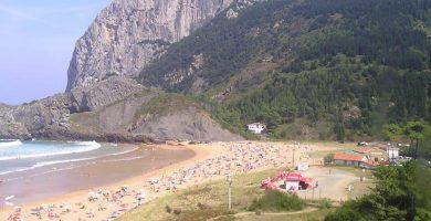 Playa Laida en Ibarrangelu