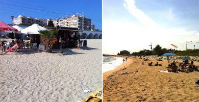 Playa Les Barques en Sant Andreu de Llavaneres