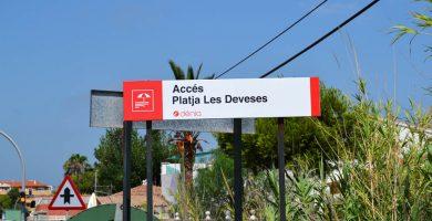 Playa Les Deveses en Dénia
