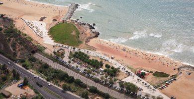 Playa Les Moreres en Montgat