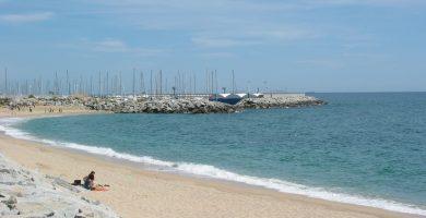 Playa L'Estació en Sant Andreu de Llavaneres