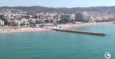 Playa L'Estanyol en Sitges
