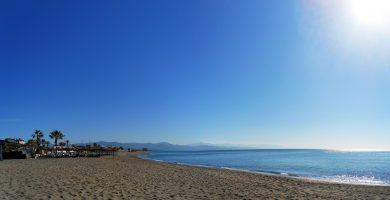 Playa Los Álamos en Torremolinos