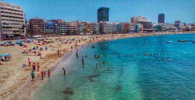 Playa Los Muellitos en Las Palmas de Gran Canaria