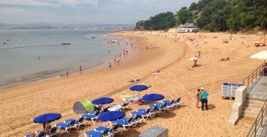Playa Los Peligros en Santander