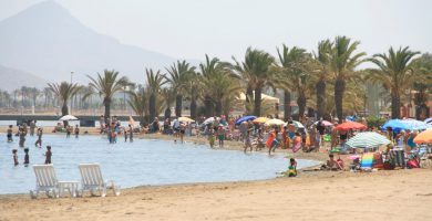 Playa Los Urrutias en Cartagena