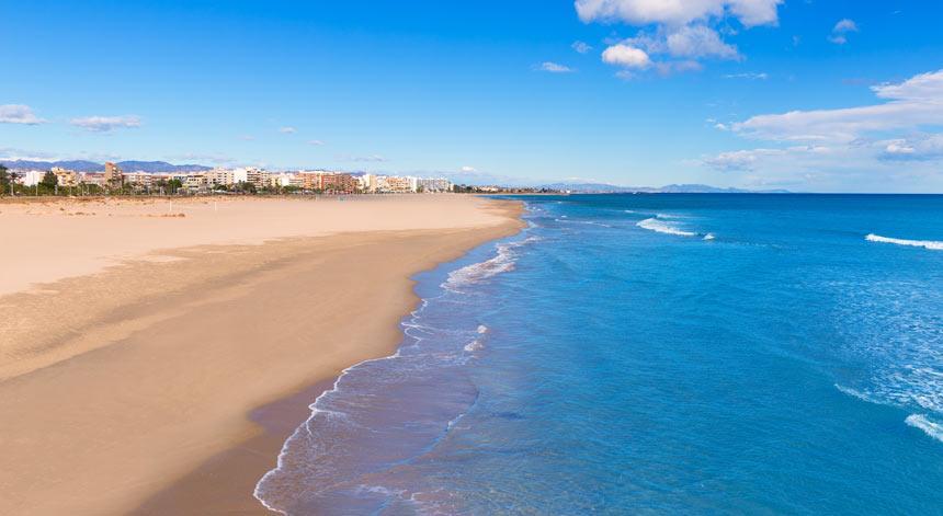 Playa Malvarrosa en Valencia