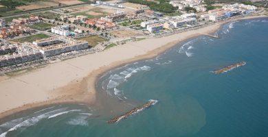 Playa Mota de Sant Pere en Cubelles