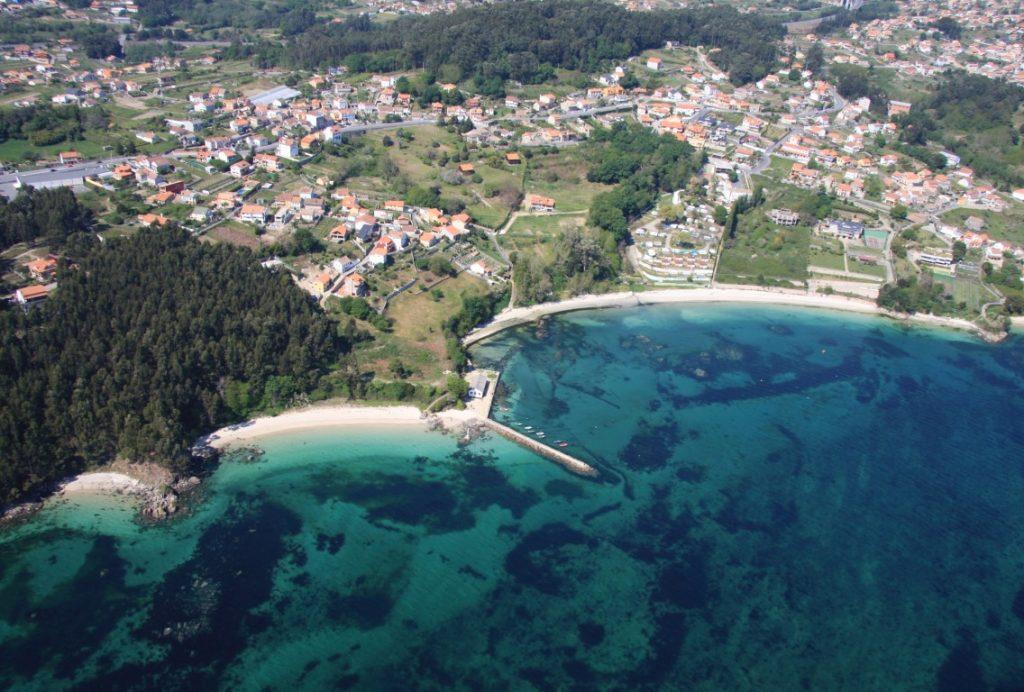 Playa Niño do Corvo en Ponteceso