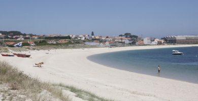 Playa O Castro en Ribeira