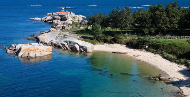 Playa O Naval en A Illa de Arousa