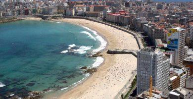 Playa Orzán en A Coruña